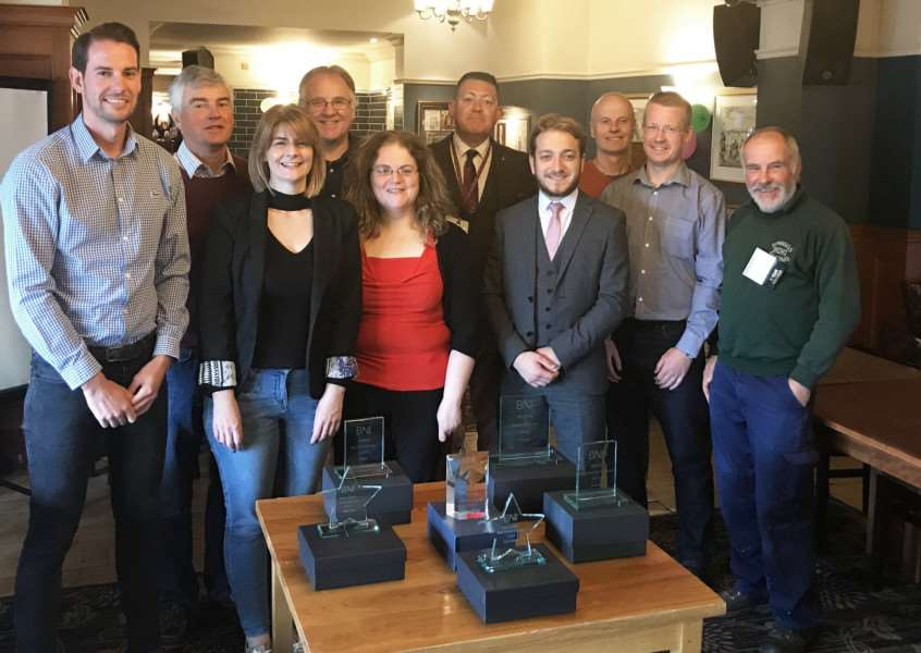 Members of Lynn's BNI Hanse which has been recognised as the best in Norfolk