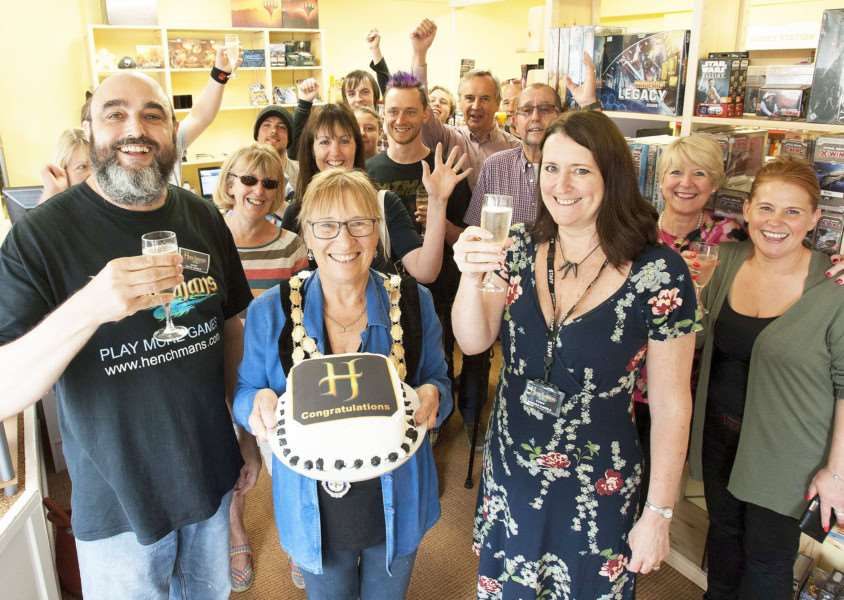 Henchmans Gaming Shop officially opened by Swaffham Mayor Jill Skinner.
