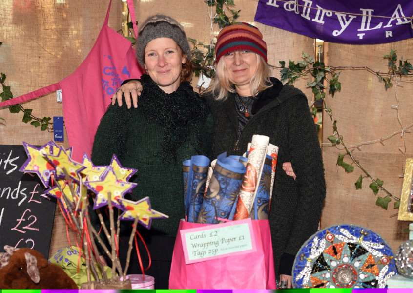 Christmas Market in Lynn town centre''Clare Enters and Carolyn Ash