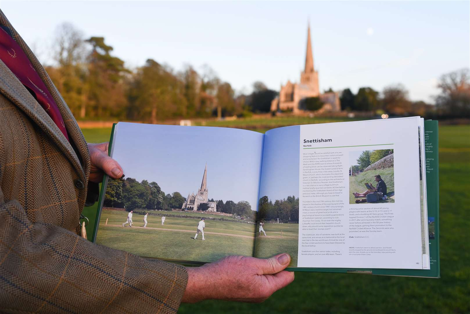 Snettisham Cricket Club has been included in a book called 'Remarkable Village Cricket Grounds'