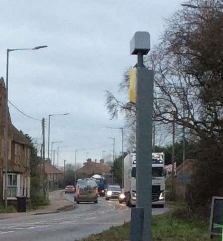 This speed camera on the A10 at Setchey has been removed. Picture: Simon Nash