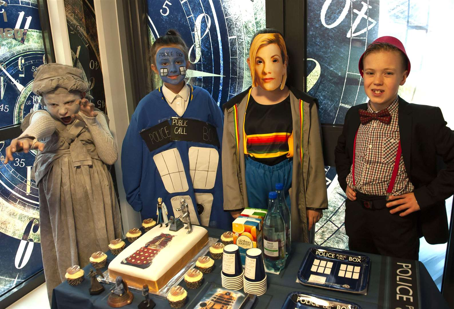 Pupils as Dr Who Characters at Howard Junior School