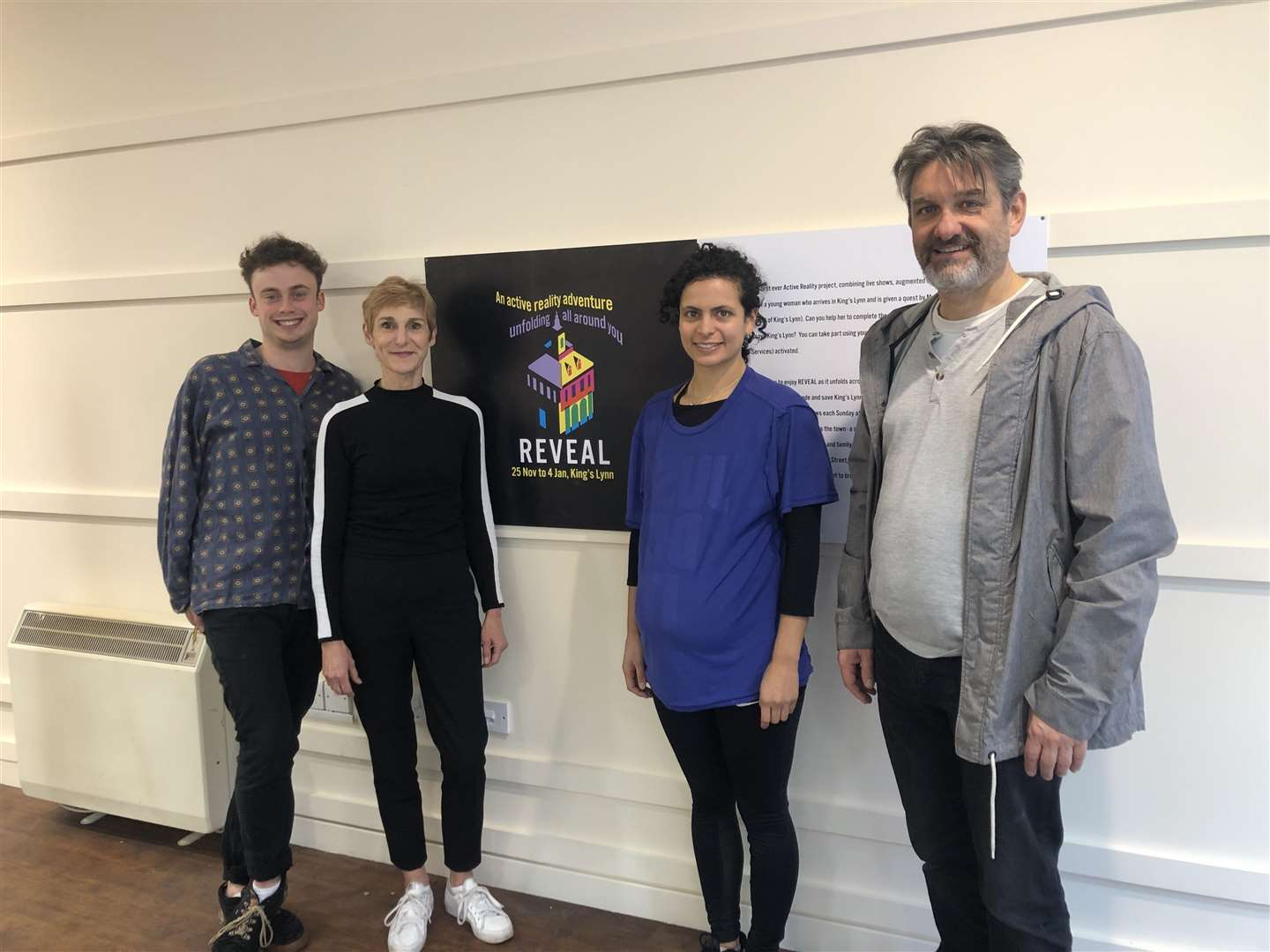 Actors from active reality adventure REVEAL. From left, Olly Westlake who plays Joe, Claire Lacey who plays Margaret of Antioch, Rebecca Banatvala who plays Maya and Tim Welton as Uncle Don. (5586827)