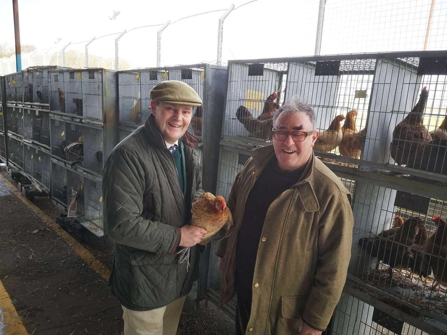Fabian Eagle is pictured on the left with Desmond MacCarthy. Picture: SUBMITTED