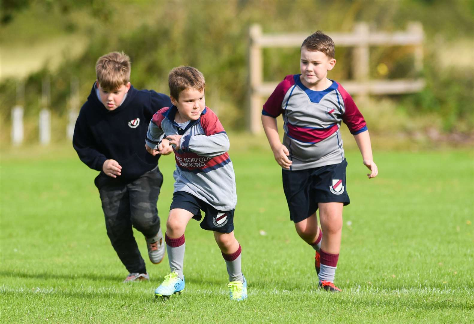 Mini sessions were held at West Norfolk Rugby Club for youngsters to pitch up and play.. (42222856)