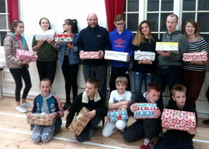 East Coast Martial Arts Academy Pack shoeboxes for Operation Christmas Child