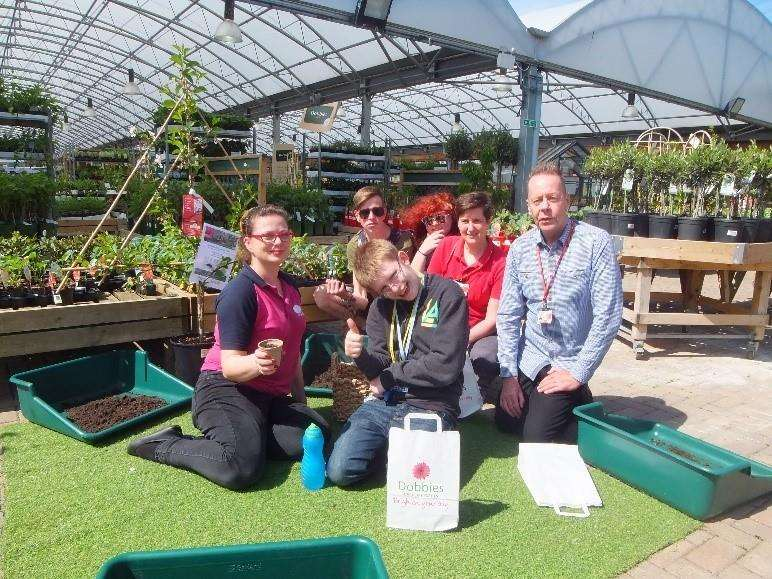 College of West Anglia students with staff and Dobbies representatives during their visit to the store (2011381)