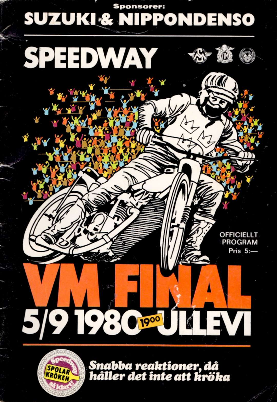 The programme cover for the 1980 world final in Sweden. MLNF-World Final (39283405)