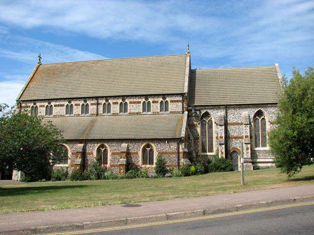 A protest in support of the Suffragette movement took place at St Edmund's Church in Hunstanton in 1914 (2453958)