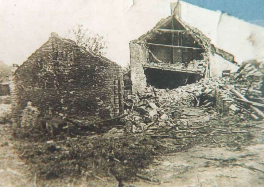Cottage in Dodds Hill, Dersingham, which was damaged after a bomb was dropped from a Zeppelin in September 1916. Photo: SUBMITTED.