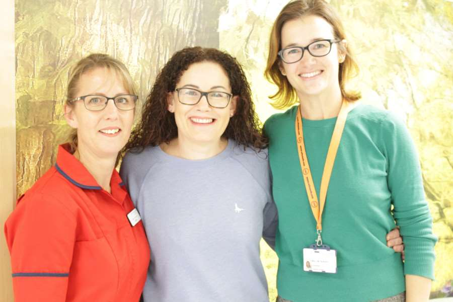 Lucy Drew with Elaine Rudd and Amy Burger. Photo: SUBMITTED.