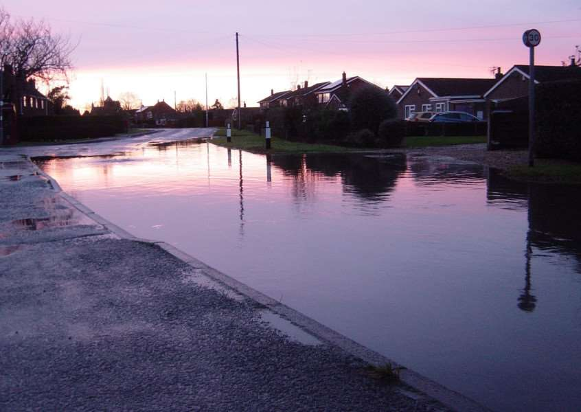 Flooding on Northgate Way, Terrington St Clement. Photo courtesy of Robert Brockwell.