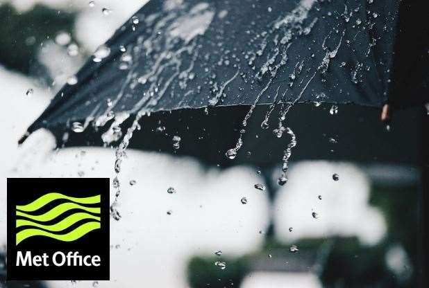 The Met Office has issued a yellow weather for rain