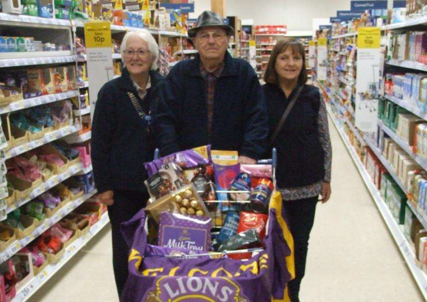 Swaffham Lions held their annual Trolley Dash at Tesco in Swaffham