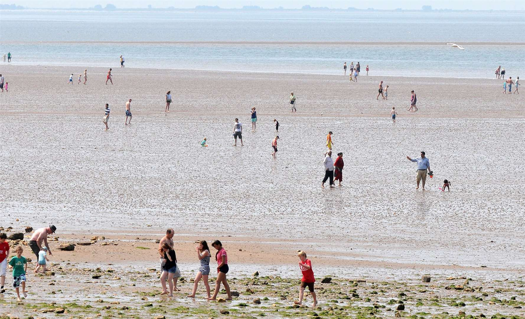 Hunstanton's beach is a popular destination when the sun is shining at this time of the year