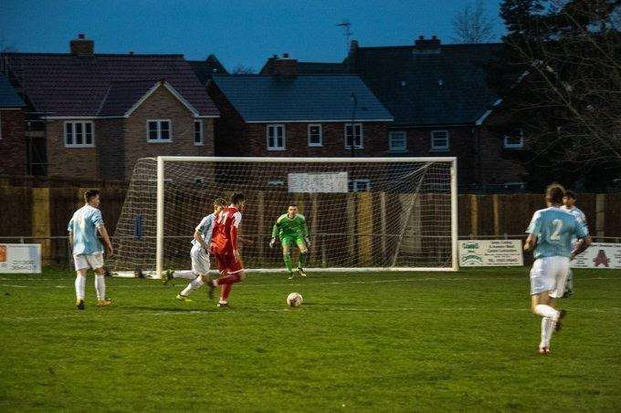 Downham Town, who won 1-0, increase the pressure. (6365085)