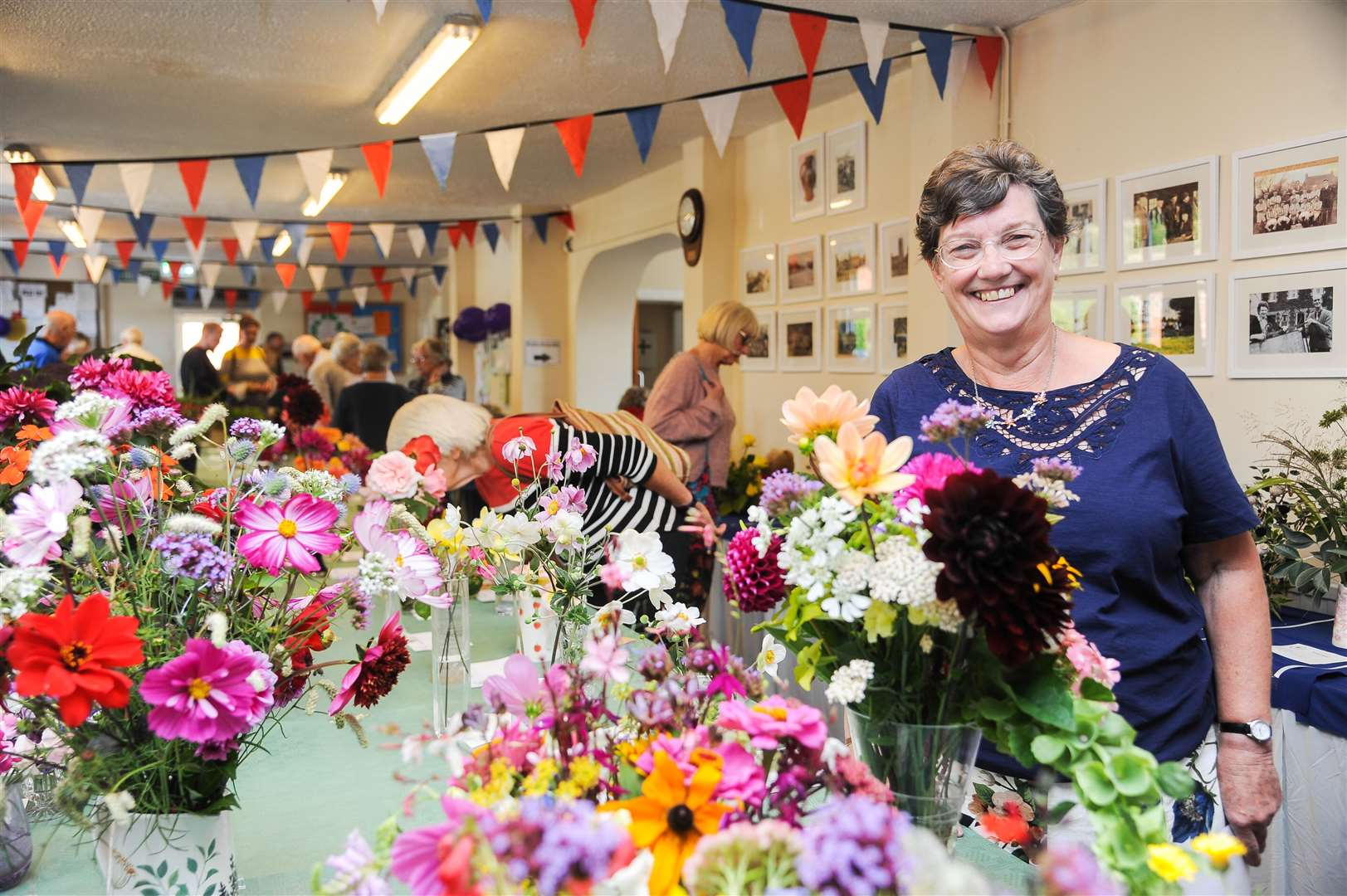 The Greenfingers Gardening Club annual horticultural show at Pott Row Village Hall. Pictured is organiser Cynthia Jackson.. (16251878)