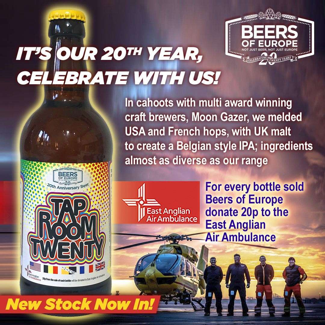 Beers of Europe is supporting the East Anglian Air Ambulance (42708871)