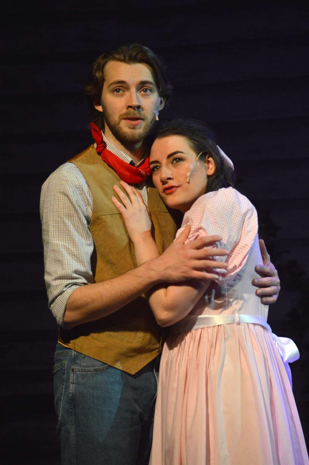 Ross Woodhouse as Curly and Ellie Hiam as Laurey in the King's Lynn's Players' production of Oklahoma! (5435085)