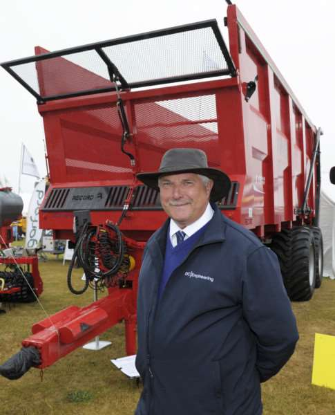 Scenes from The Royal Norfolk Show Norwich 2017 (Day 1 Wednesday)'Derek Hawes (manager with DC Engineering from Swaffham) with machinery.