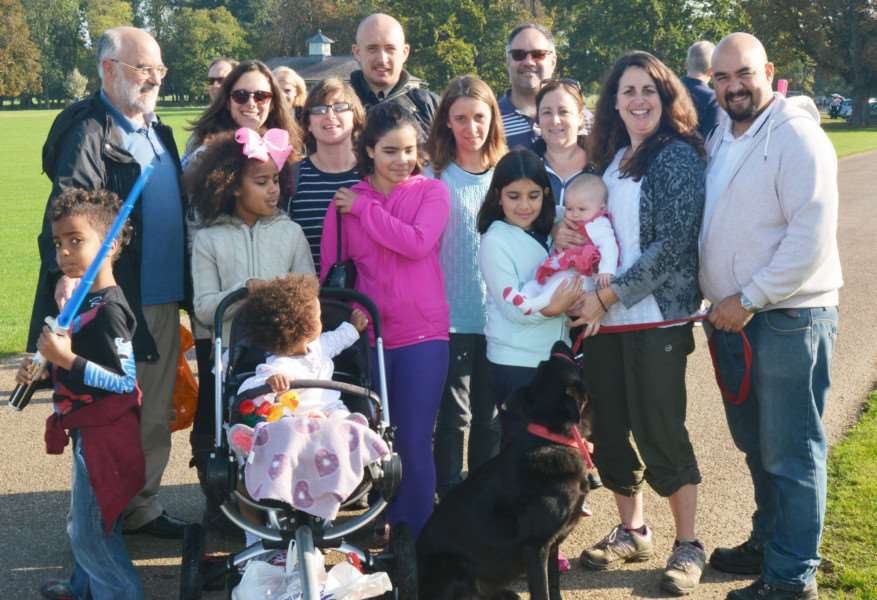 "Astro Brain Tumour Walk at Holkham Hall'This large family group met up in Holkham to walk in memory of their ""Uncle Bob"""