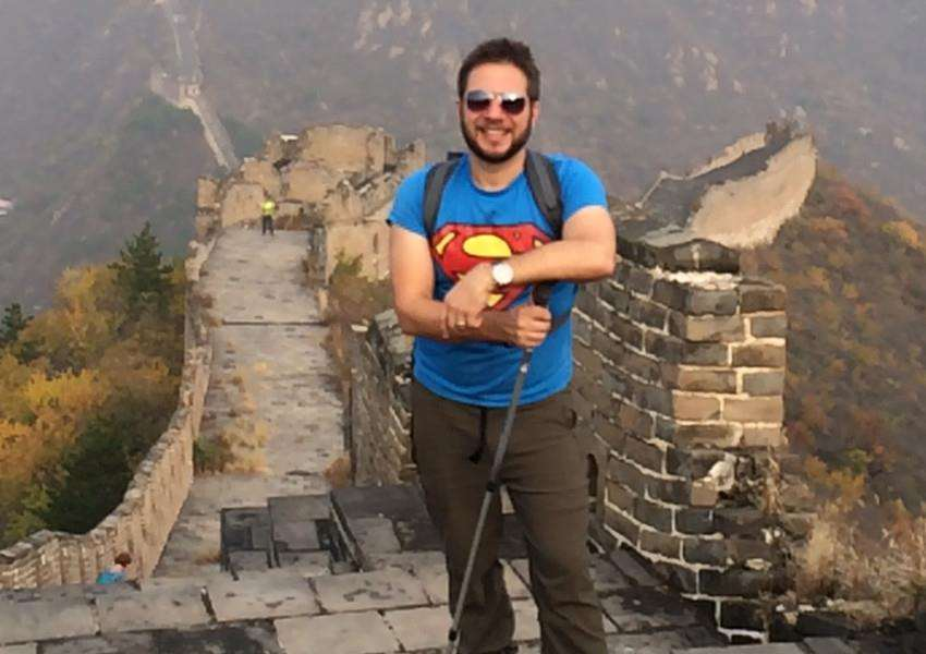 Mark Remmington, who has completed a trek of the Great Wall of China to raise funds for the West Norfolk branch of the National Autistic Society. Photo: SUBMITTED.