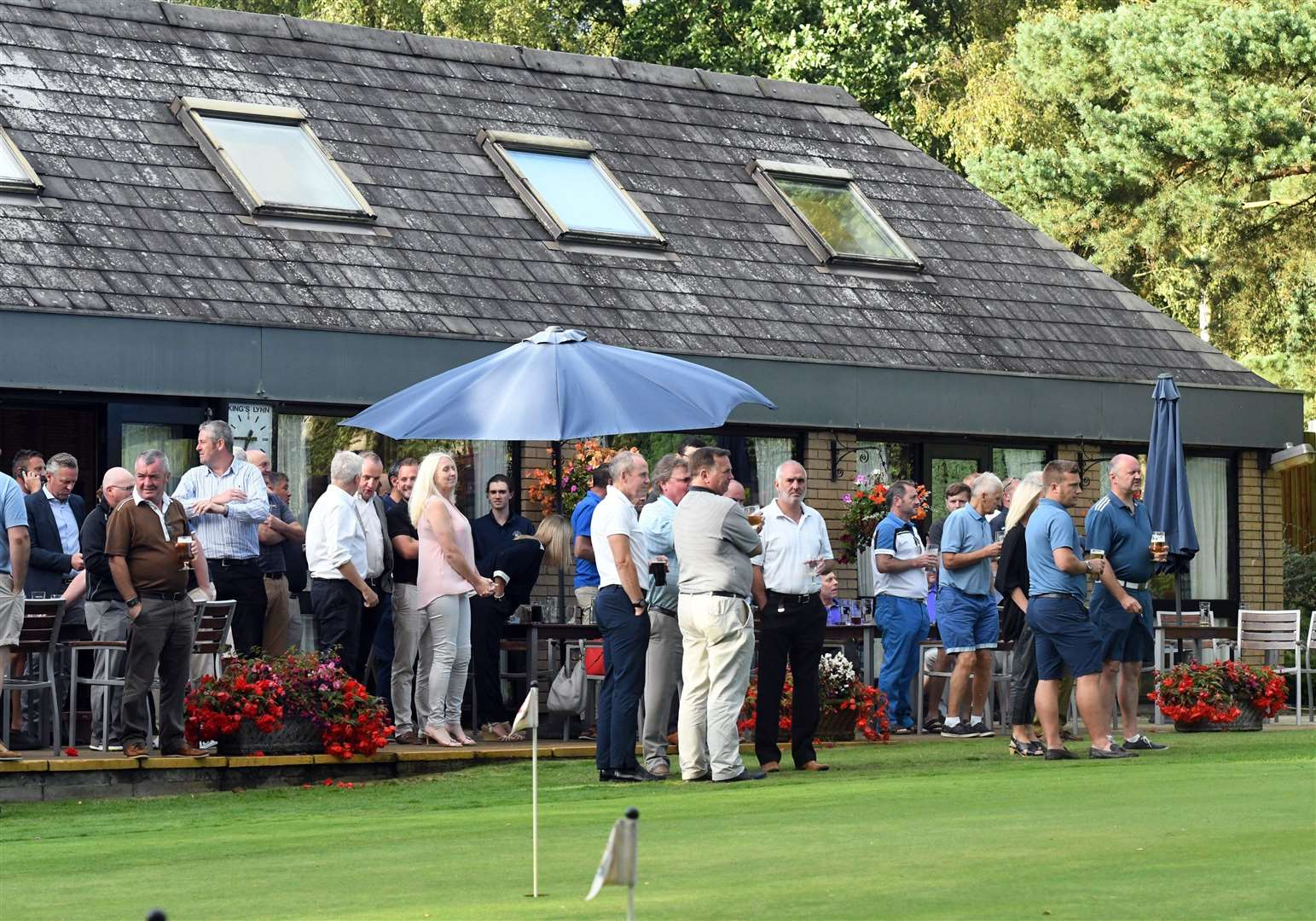 A thriving clubhouse at King's Lynn Golf Club before the coronavirus pandemic struck earlier this year.