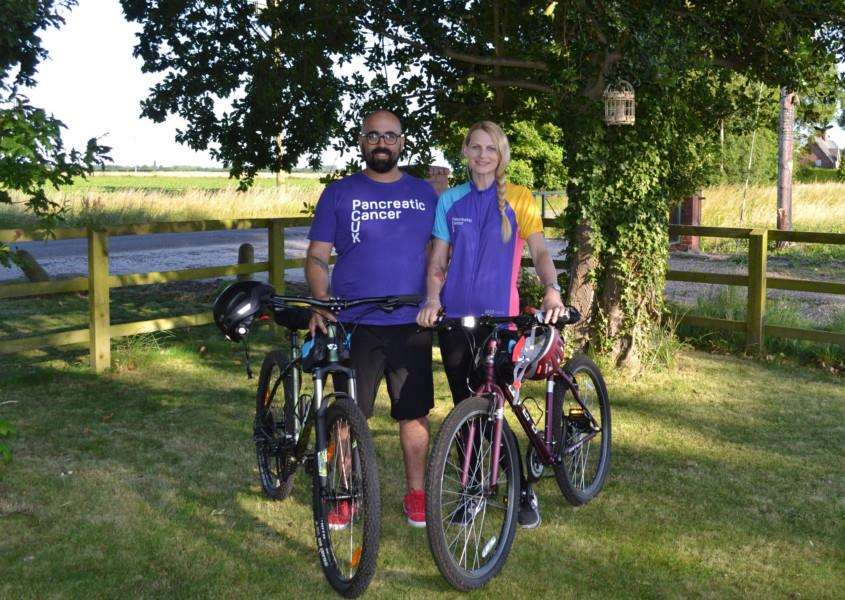 Stephen and Heidi Potter will be taking on a 99 mile cycling challenge along the Norfolk coastline in honour of Heidi's grandmother and to fundraise for Pancreatic Cacner UK. Photo: SUBMITTED.