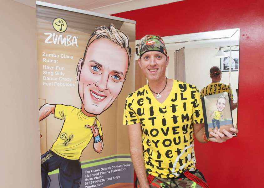 Pictured from Downham Market Russ Welch who will be hosting two charity ZUMBA activities for charity.