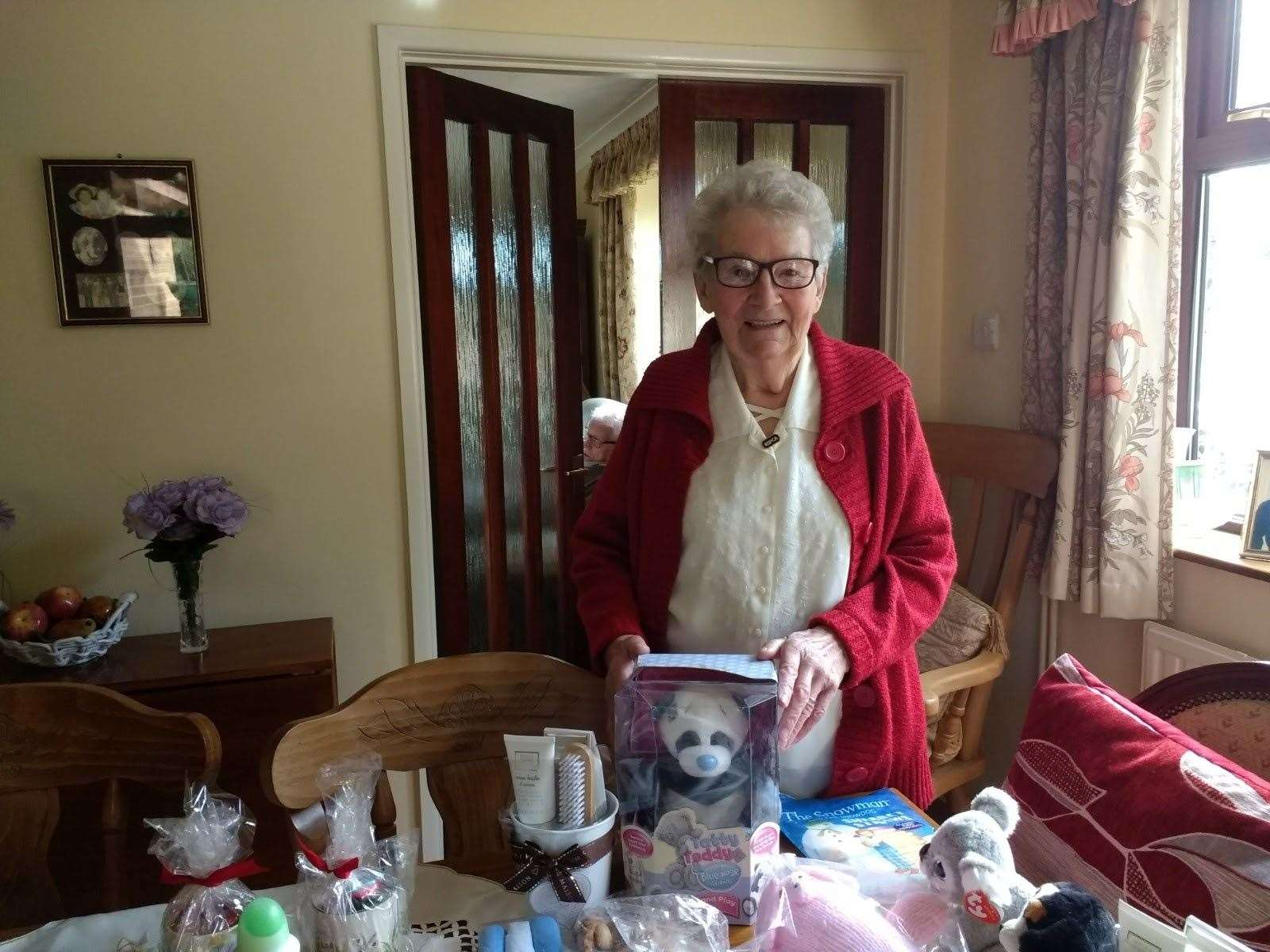 Marie Hayes, with some of the items on offer for her forthcoming tombola (27821634)