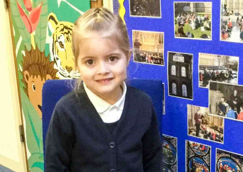 Millie Lynch, a pupil at Tilney All Saints Primary School, has been raising money for the RSPCA.