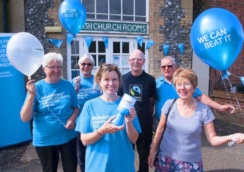 Pop-up-cafe for Parkinsons at Swaggham parish Church Rooms. Pictured in frontcentre Kecia Harris (Area Developement Manager) Parkinsons UK with volunteers.