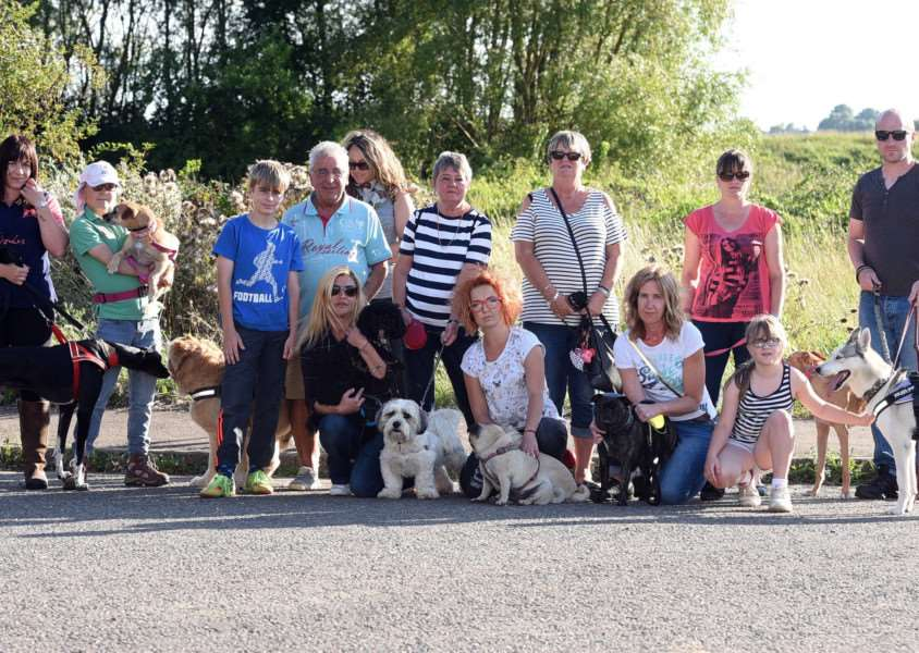 Dog walk starting from Jurassic Bark supplies in Downham in memory of Peter Wrighton who was murdered in East Harling