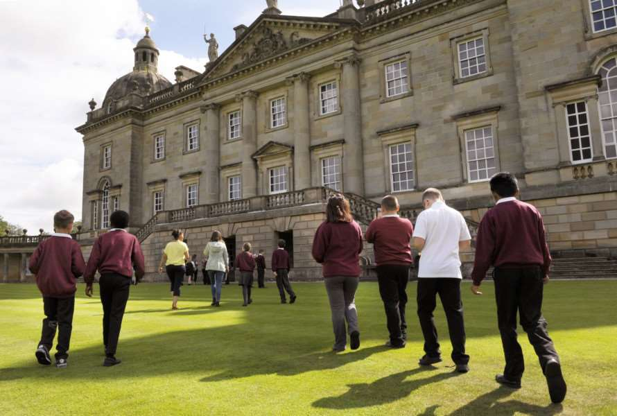 BeLong Education Project at Houghton Hall with pupils from Fairstead Primary School, King's Lynn