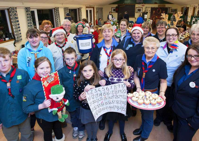 Christmas fair IAO Roof Appeal at The Scout and Guide HQ North Wootton.