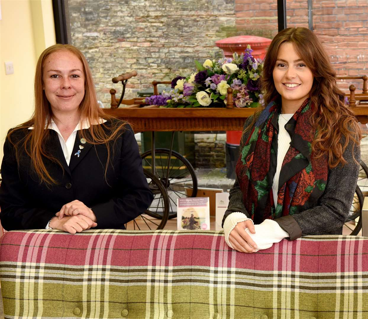 At RH Fayers and Sons Funeral Directors, from left to right, Claire Jordan and Ilaria Pezzella.  MLNF-21PM10051