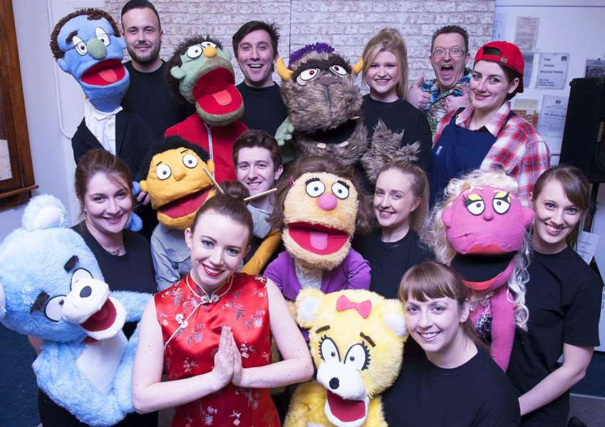Pictured The Cast of the KLODS latest production of Avenue Q for ENTS