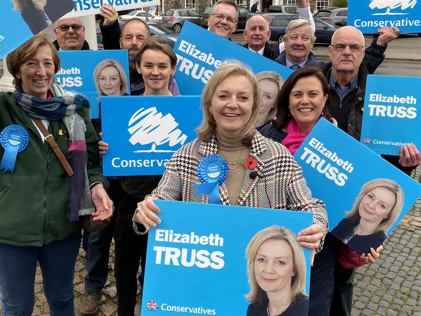 Liz Truss launches her election campaign in Swaffham Market Place