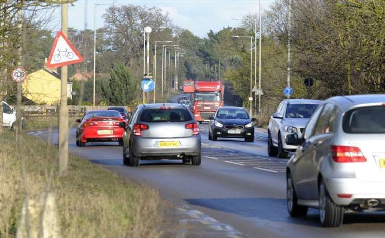 General view of the A10 at West Winch(16032521)