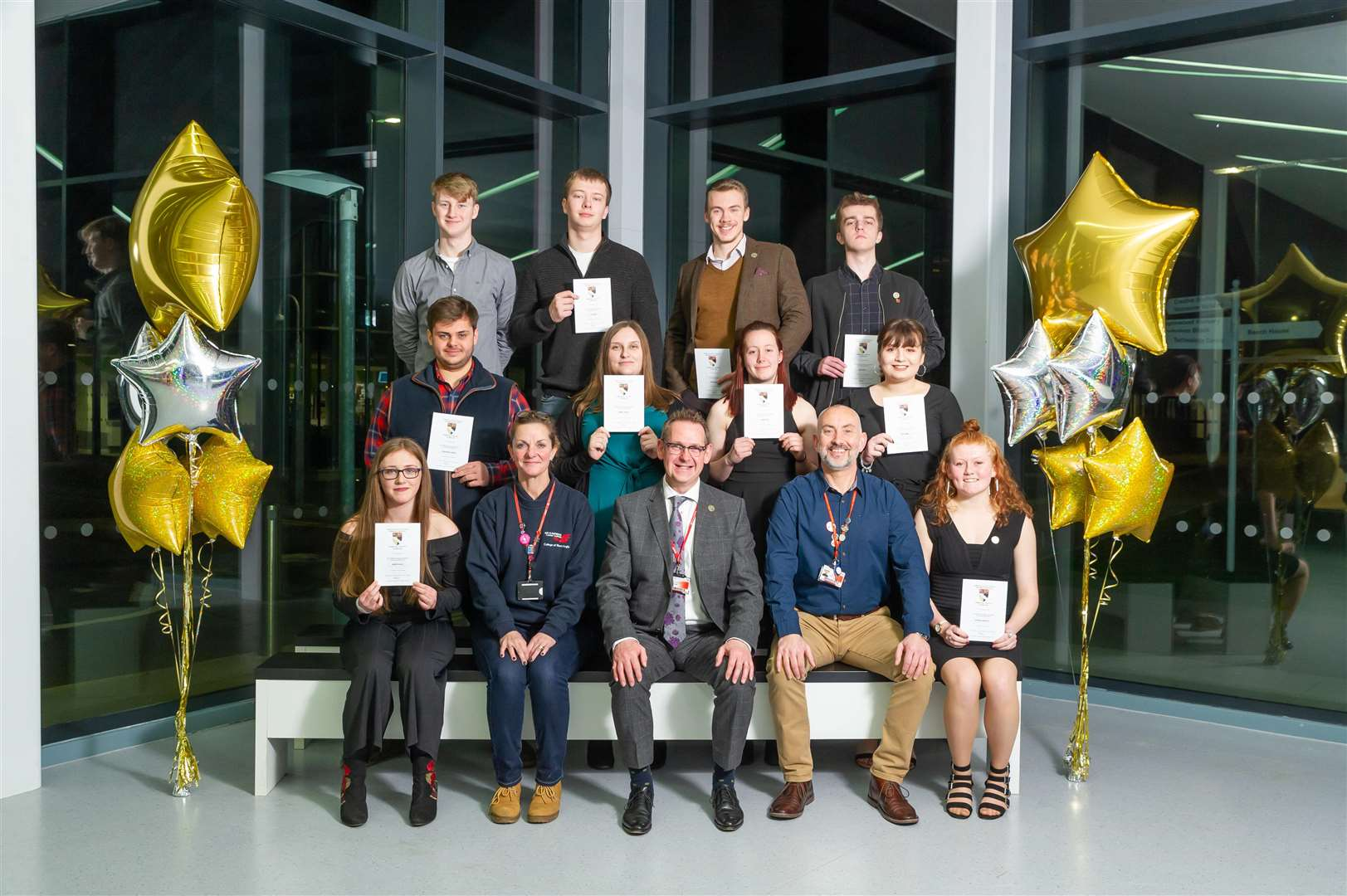 Students enjoy their success at the College of West Anglia's celebration evening. Pictures: Paul Tibbs (6464436)