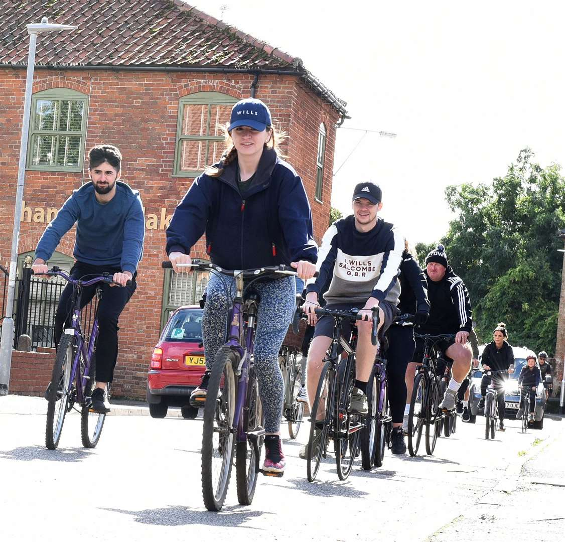 Some of the riders involved in the Bike ride around the Swaffham area over the weekend. Pictures: Paul Marsh