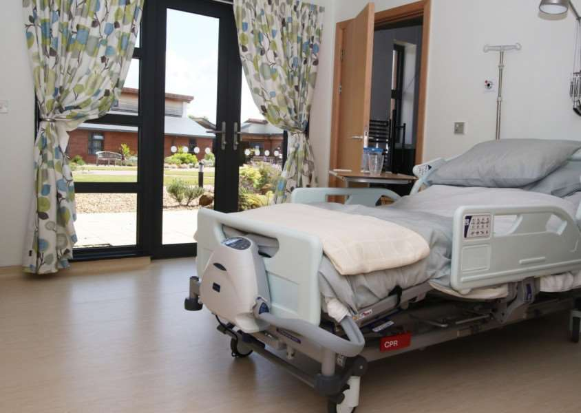 Each room in the Norfok Hospice has its own private patio area with access to landscaped gardens