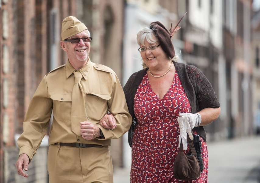 Scenes from the 1940's Wartime event held in King's Lynn on the Tuesday Market Place on Sunday.
