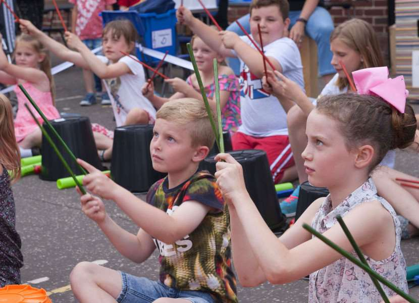 Greyfriars School King's Lynn Carnival..Pictured Jessica Bernes childrens' music group performing.
