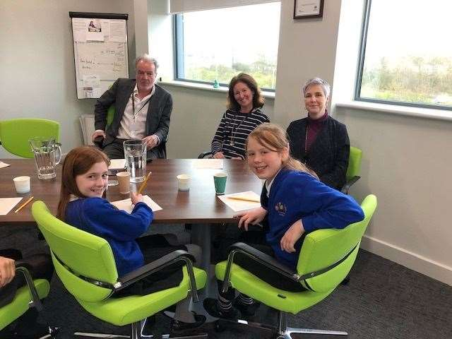Pupils pitch to KWEST Academy Trust bosses (8440050)
