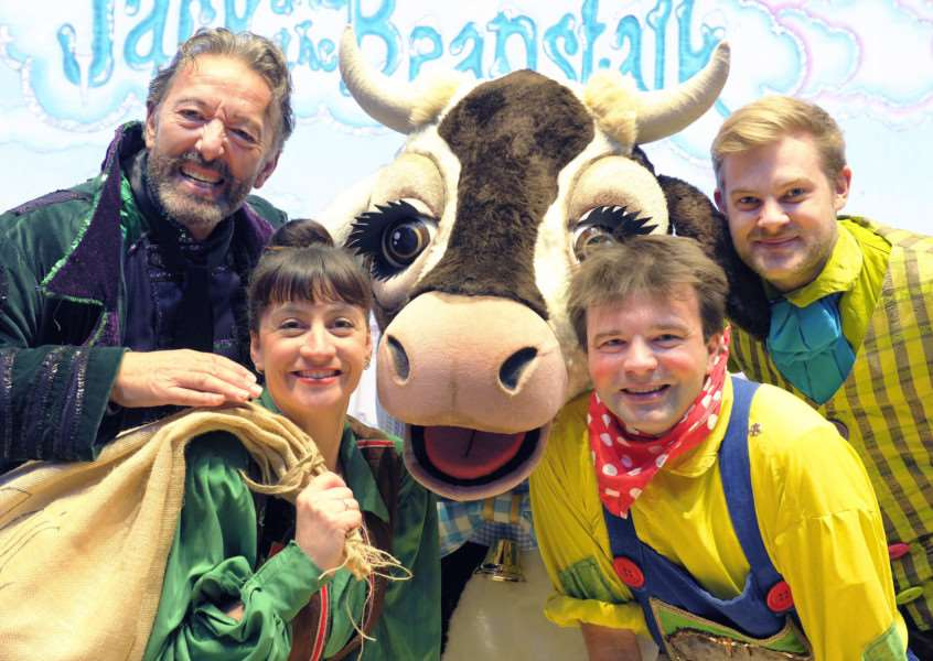 Corn Exchange King's Lynn Panto Photo call with the cast of Jack & the Beanstalk the 2017 Production.
