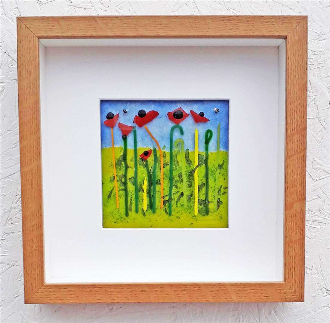 Poppy Parade by Susan Purser Hope from Cromer (45387533)