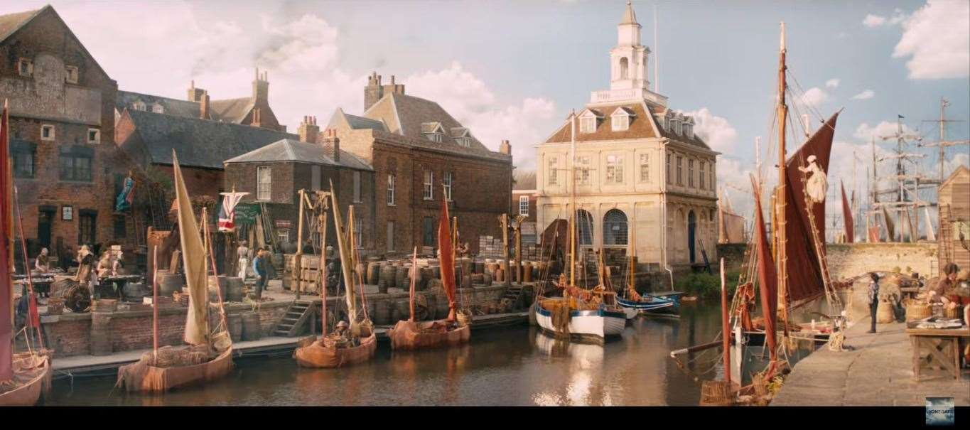Still of King's Lynn in the trailer for The Personal History of David Copperfield. Credit: Lionsgate Films UK (18291885)