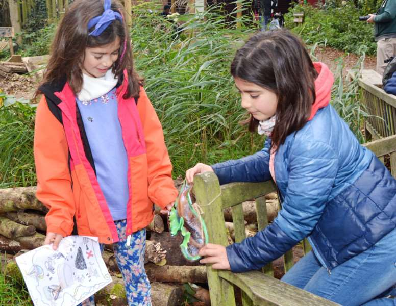 Titchwell Wild Things'Ava and Kyra Teversham on the treasurer trail
