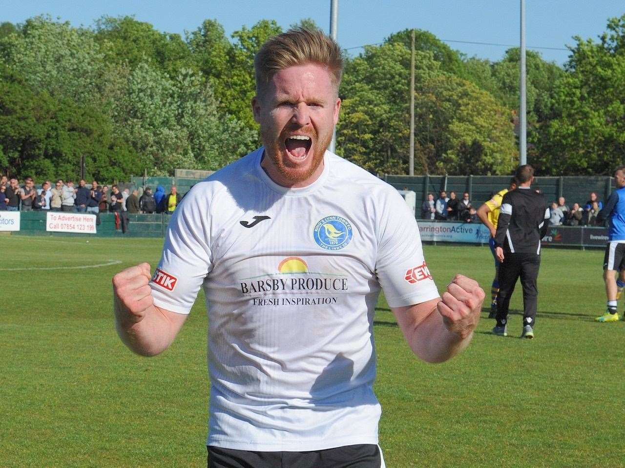 Striker Michael Gash who scored the goal that clinched promotion to the National League. Picture: Tim Smith. (10122975)